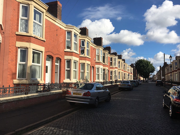 Houses in Bootle England