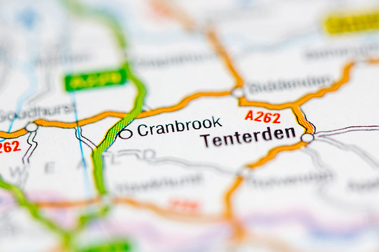 map shows Cranbrook and Cranbrook area
