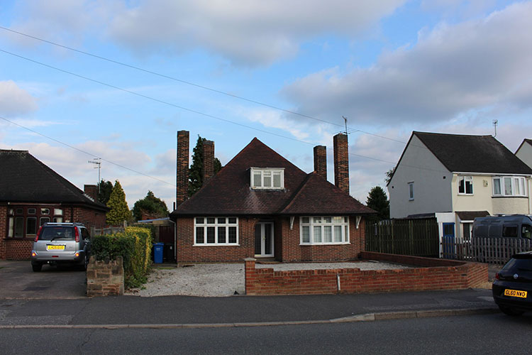 Bungalow close to road in Staveley village of England