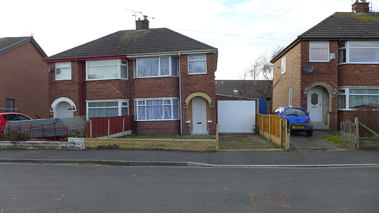 Semi Detached House in Blackpool England