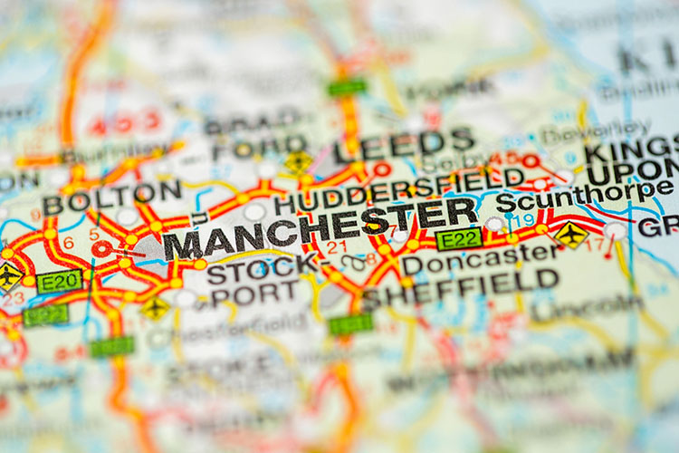 map of Manchester UK