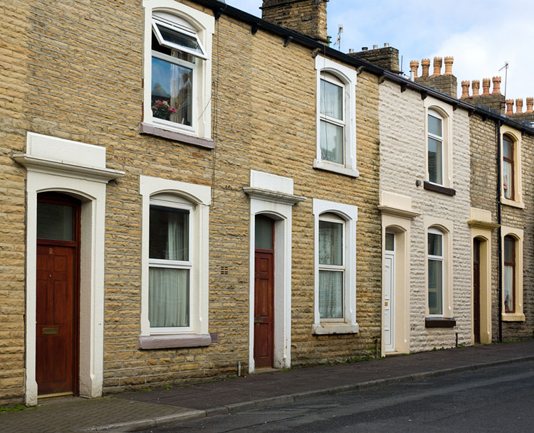 terraced house in Nelson England