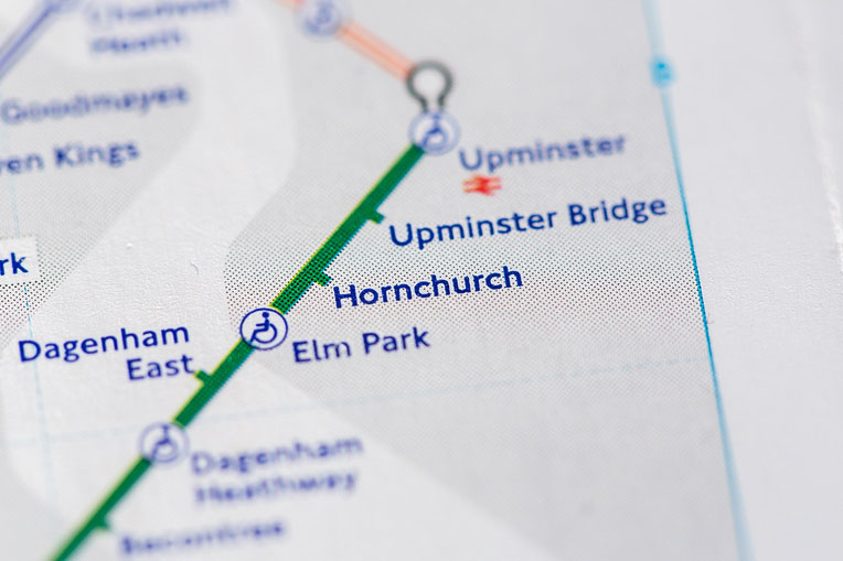 map showing Elm_Park Hornchurch and Upminster_Bridge area