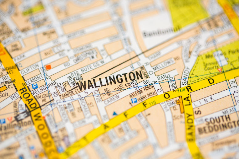 map of Wallington town
