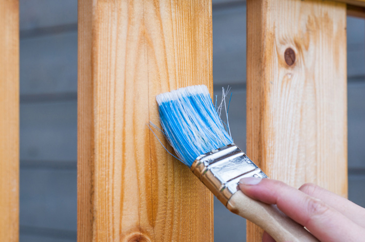 Paint Brush Over Wooden Furniture